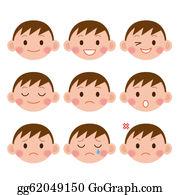 Sad-Child - Boy Expressions. Funny Cartoon