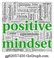 Positive - Positive Mindset Concept In Tag Cloud
