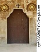 Church-Building - Old Orthodox Small Church Door
