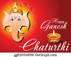 Ganesha - Abstract Ganesh Chaturthi Card