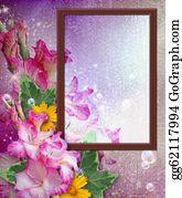 Gladioli - Photo Frame With Gladiolus