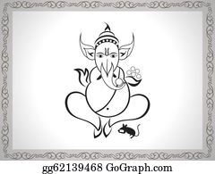 Ganesha - Abstract Ganesha Sketch