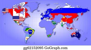 Globe-Flags - G20 Map