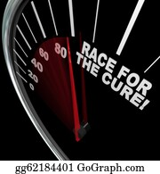 Fundraiser - Race For The Cure Speedometer Fundraiser Words