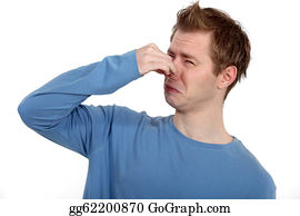Sense-Of-Smell - Man Holding His Nose Against A Bad Smell