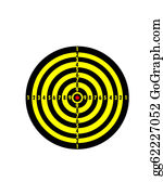 Bullseye - Target Is Striped With Yellow And Black Lines