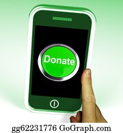 Fundraiser - Donate Button On Mobile Shows Charity And Fundraising
