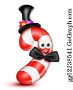 Bow-Tie - Whimsical Cartoon Candy Cane