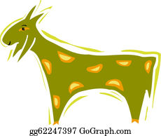 Goat-Cartoon - Illustration Of A Goat