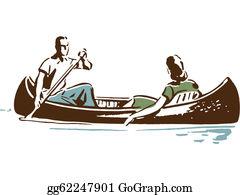 Canoe - Couple In Canoe