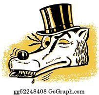 Con-Artist - A Winking Wolf Wearing A Top Hat