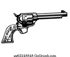 Antique-Pistols - A Black And White Version Of A Vintage Hand Gun