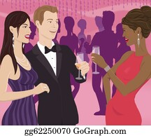 Multi-Ethnic-Group - A Woman Toasting A Couple At A Party