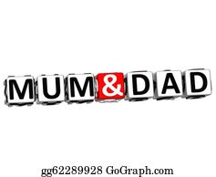 I-Love-You-Dad - 3d Mum And Dad Button Click Here Block Text