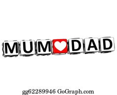 I-Love-You-Dad - 3d Mum Love Dad Button Click Here Block Text