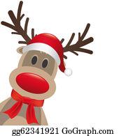 Antler - Reindeer Red Nose Hat And Scarf