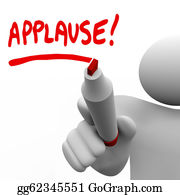 Appreciation - Applause Word Written By Man Marker Appreciation
