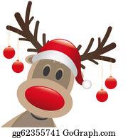 Antler - Reindeer Red Nose Christmas Balls