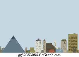 Memphis - Cartoon Memphis Skyline