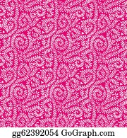 Vine - White On Hot Pink Vine Pattern
