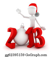 2013-Happy-New-Year-Happy-New-Year - 3d Man, Happy New Year 2013!