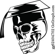 Graduation - Skull In Graduation Cap