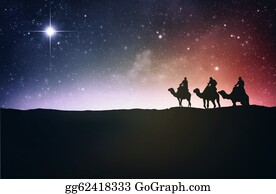 Nativity - Three Wise Men And Star