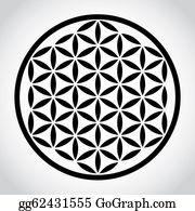 Plant-Life - Flower Of Life Symbol - Illustration