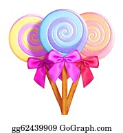 Lollipop - Whimsical Lollipops With Bows