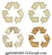 Eco-Friendly-Label - Set Of Paper Recycling Symbol Isolated