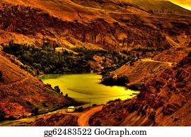 Plantation - River Flowing Through Mountains