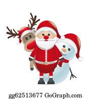 Antler - Reindeer Red Nose Santa Claus Snowman