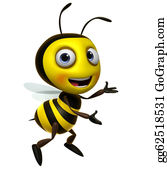 Stinging-Insect - Cartoon Bee