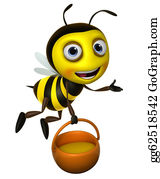Stinging-Insect - Cartoon Honey Bee