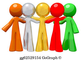 Multi-Ethnic-Group - Team Group Togetherness Concept In Success