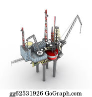 Drilling-Rig - Drilling Offshore Platform Isolated
