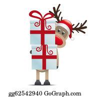 Antler - Reindeer Hold Gift Boxes
