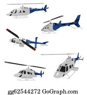 Helicopter - 3d Helicopert Pack Isolated On White