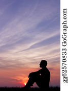 Babies-And-Toddlers-Silhouettes - Man At Sunset