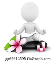 Meditative - 3d White People Meditation