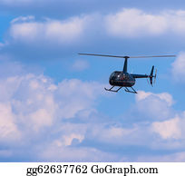 Helicopter - Civilian Helicopter In The Sky