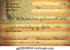 Veterans-Day - Veteran's Check With Texture