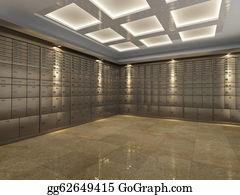 Bank-Vault - Interior Of A Bank Vault
