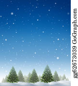 Skying - Winter Holiday Background