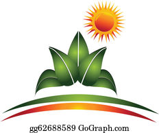 Golden-Lotus-Flower-Logo - Plant And Sun Logo Vector