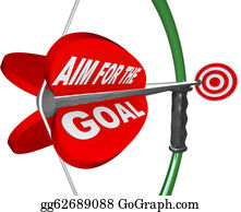 Bullseye - Aim For The Goal Bow And Arrow Bullseye Target