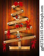 Funny-Toy-Train - Wooden And Stylized Christmas Tree