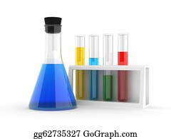 Chemical-Laboratory - Chemical Flasks With Reagents