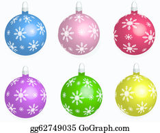 Six-Spheres-Balls-Illustration-With - Set Collection Xmas Balls.