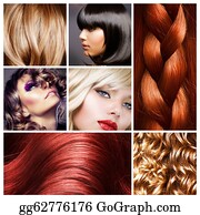 Wig - Hair Collage. Hairstyles